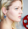 Deco Earrings in Navy