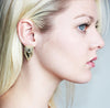 Crystal Stud Earrings in Gold