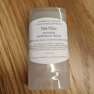 Handmade all-natural organic deodorant - be.You everyday confidence stick