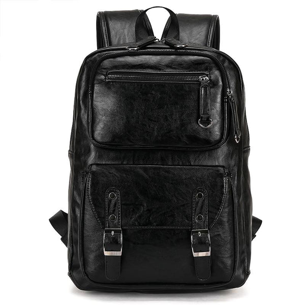 Men's Faux Leather Backpack-The Hub Venue