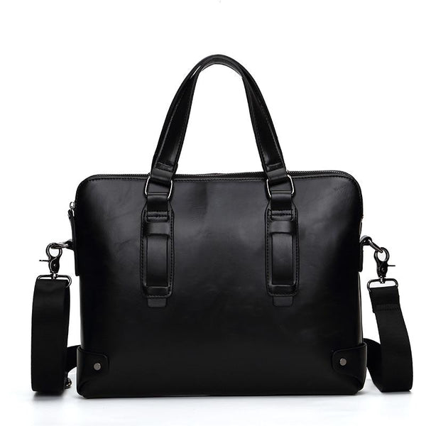Executive Vintage Leather Briefcase-The Hub Venue