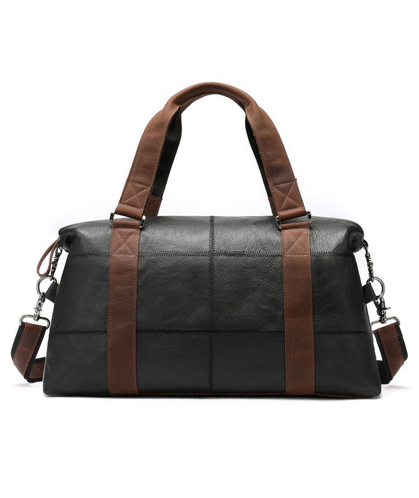 Men's Genuine Leather Travel Duffel Bag-The Hub Venue