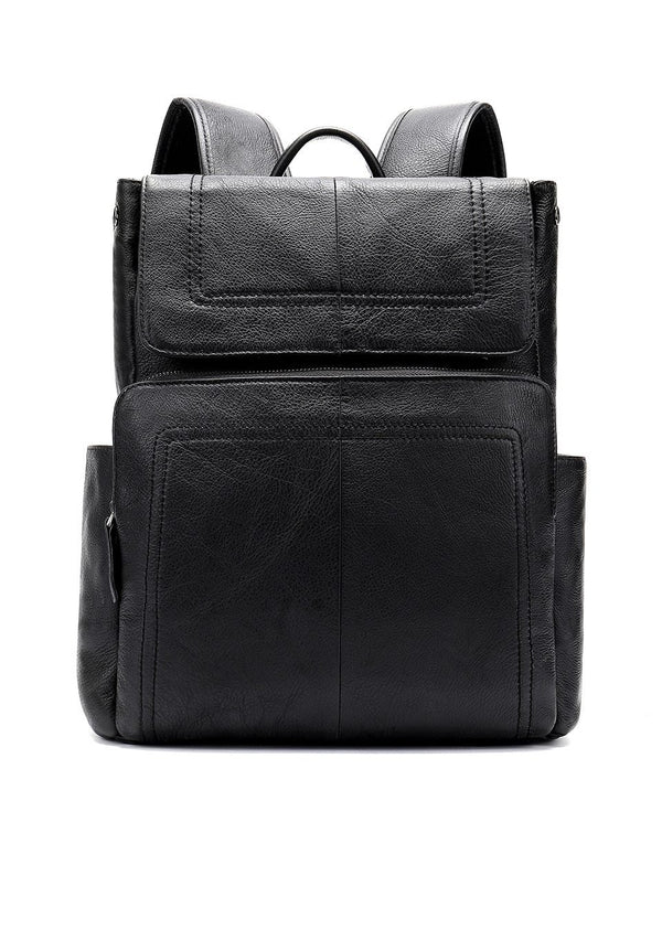 Men's Genuine Leather Backpack-The Hub Venue