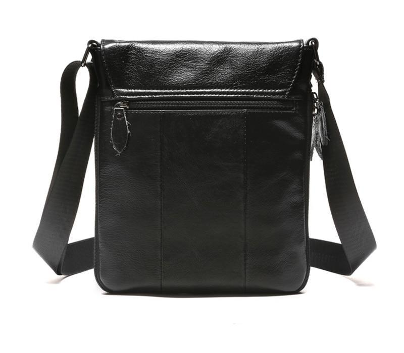Men's Vintage Leather Shoulder Bag-The Hub Venue