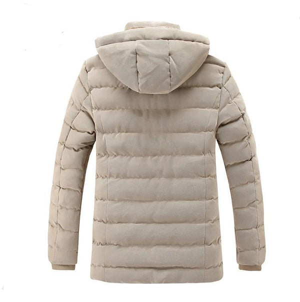 Men's Casual Microfiber Winter Parka