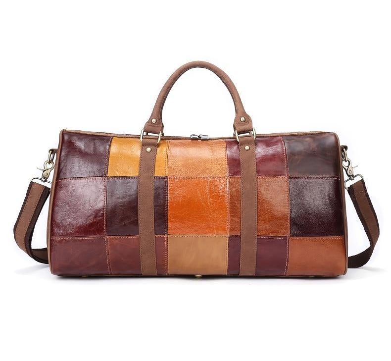 Genuine Leather Weekender Duffel Bag