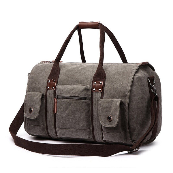 Men's Canvas Weekender Duffel Bag-The Hub Venue