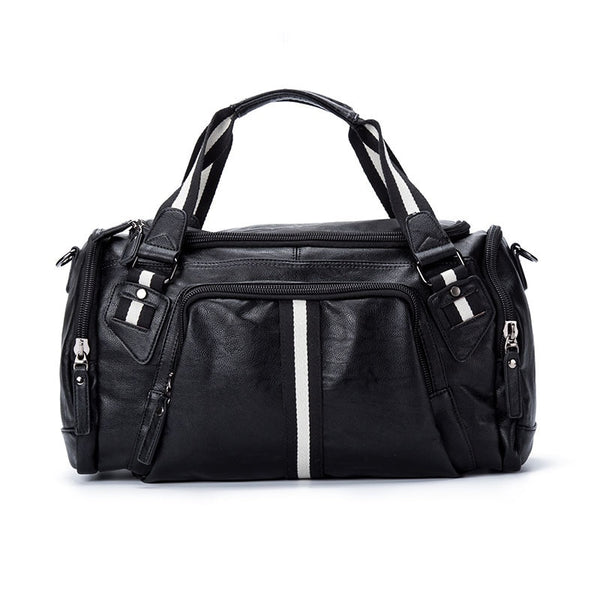 Men's Striped Sport Duffel-The Hub Venue