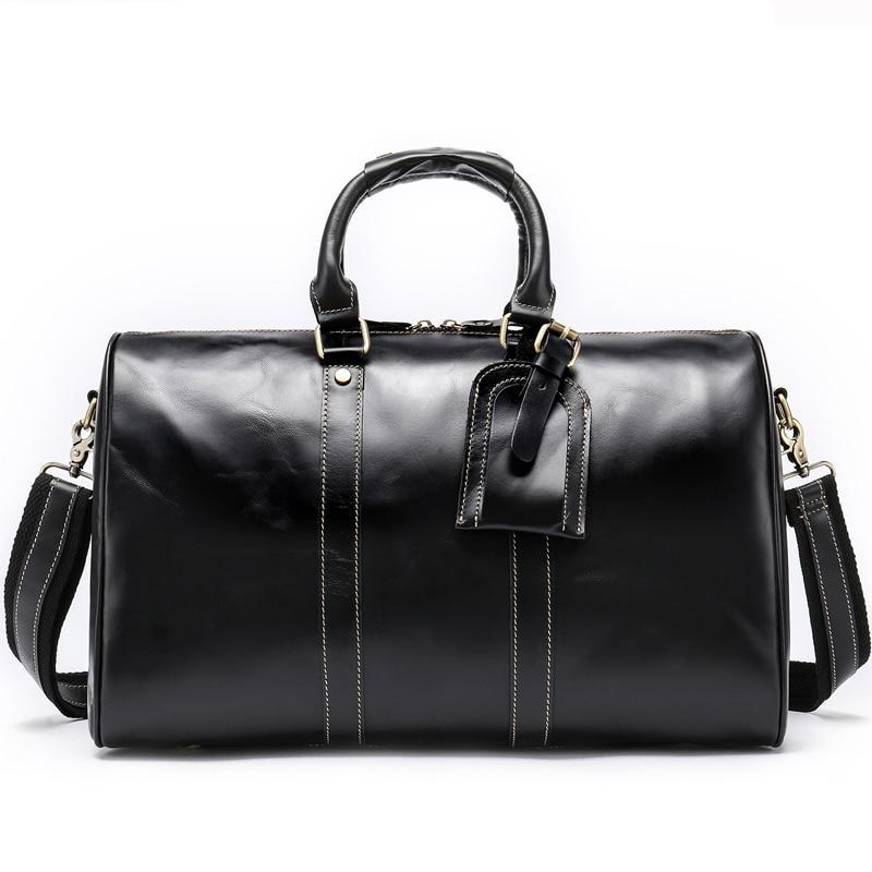 Men's Genuine Leather Weekender-The Hub Venue
