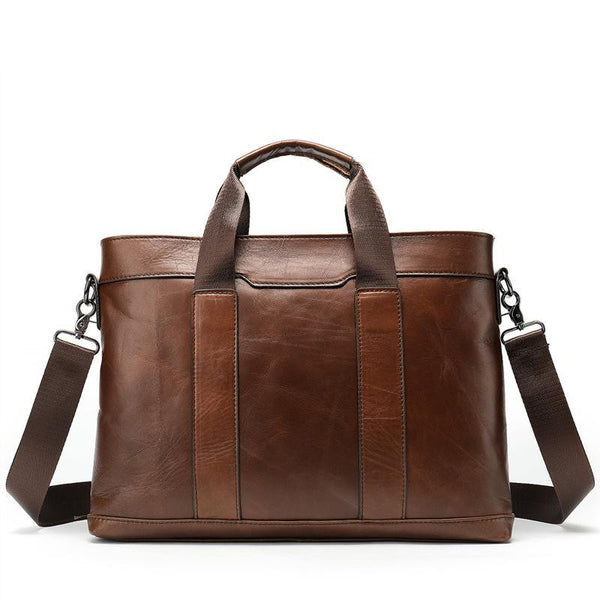 Slim Design Men's Leather Messenger Bag-The Hub Venue