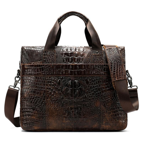 Men's Alligator Print Briefcase