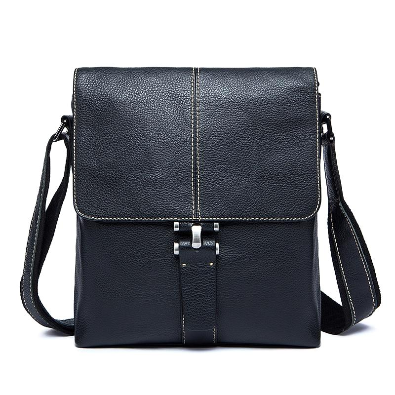 Men's Leather Shoulder Bag-The Hub Venue