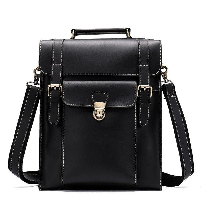Men's Executive Leather Messenger-The Hub Venue