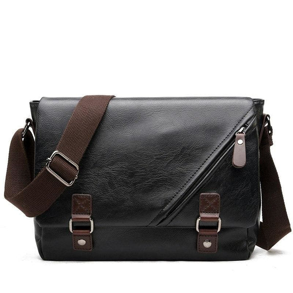 Leather Messenger Bag-The Hub Venue