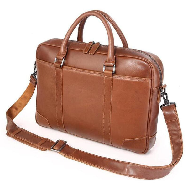 Men's Leather Messenger Bag-The Hub Venue
