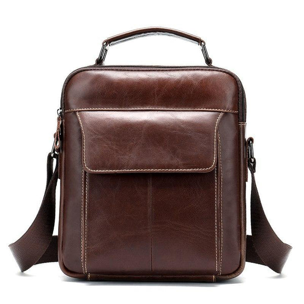 Men's Coffee Finish Shoulder Bag