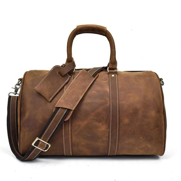 Men's Vintage Leather Duffel Bag-The Hub Venue
