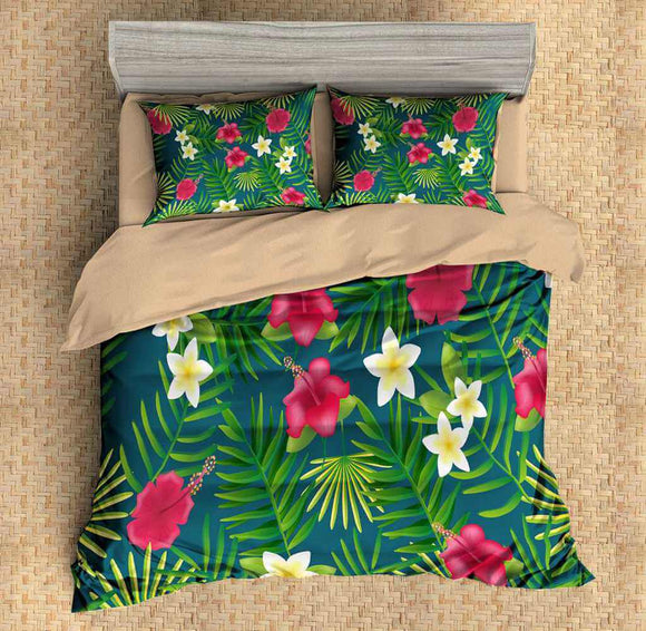 3D Customize Leaf Bedding Set Duvet Cover Set Bedroom Set Bedlinen
