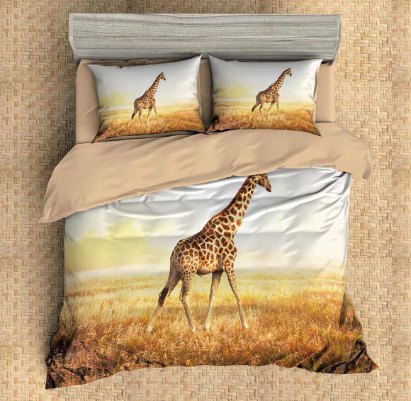 3D Customize Giraffe Bedding Set Duvet Cover Set Bedroom Set Bedlinen