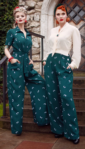 Buy Authentic 1940s & 50s Original Vintage Style Ladies Trousers, Shorts & JumpSuits