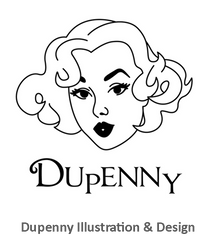 Shop & Buy Authentic Vintage 1940s & 50s Style Homeware & Gifts by Dupenny Illustration