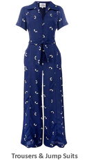 Shop & Buy Authentic Vintage 1940s and 1950s Style Ladies Trousers & JumpSuits