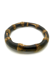 1950s Tiki Retro Rockabilly Burnt Bamboo Bangle - RocknRomance True 1940s & 1950s Vintage Style