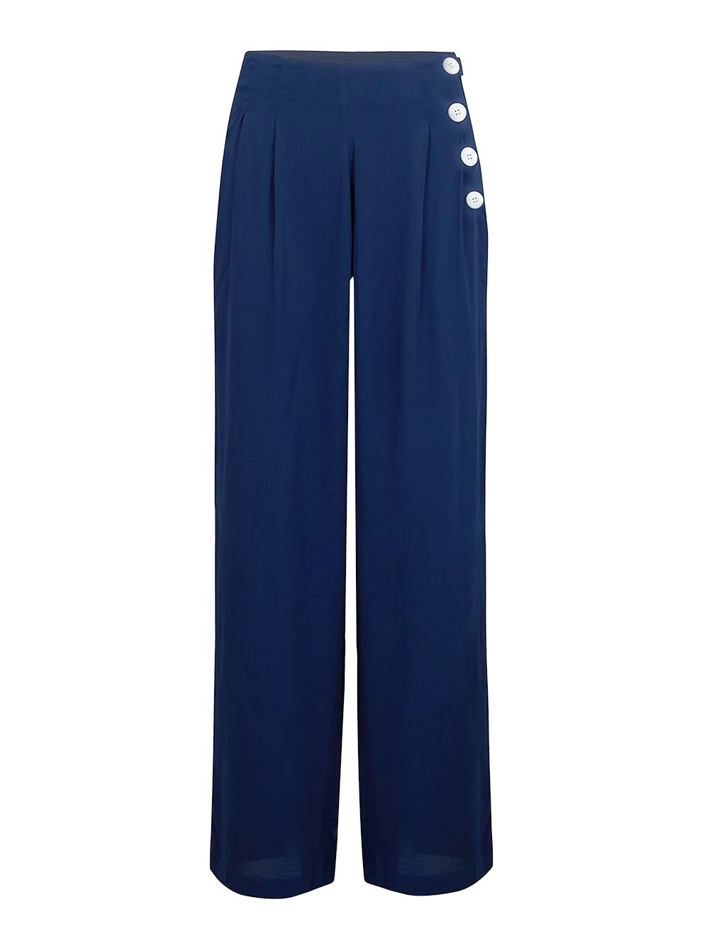 """Audrey"" Trousers  in Navy Blue by The Seamstress of Bloomsbury, Classic 1940s Vintage Inspired Style"