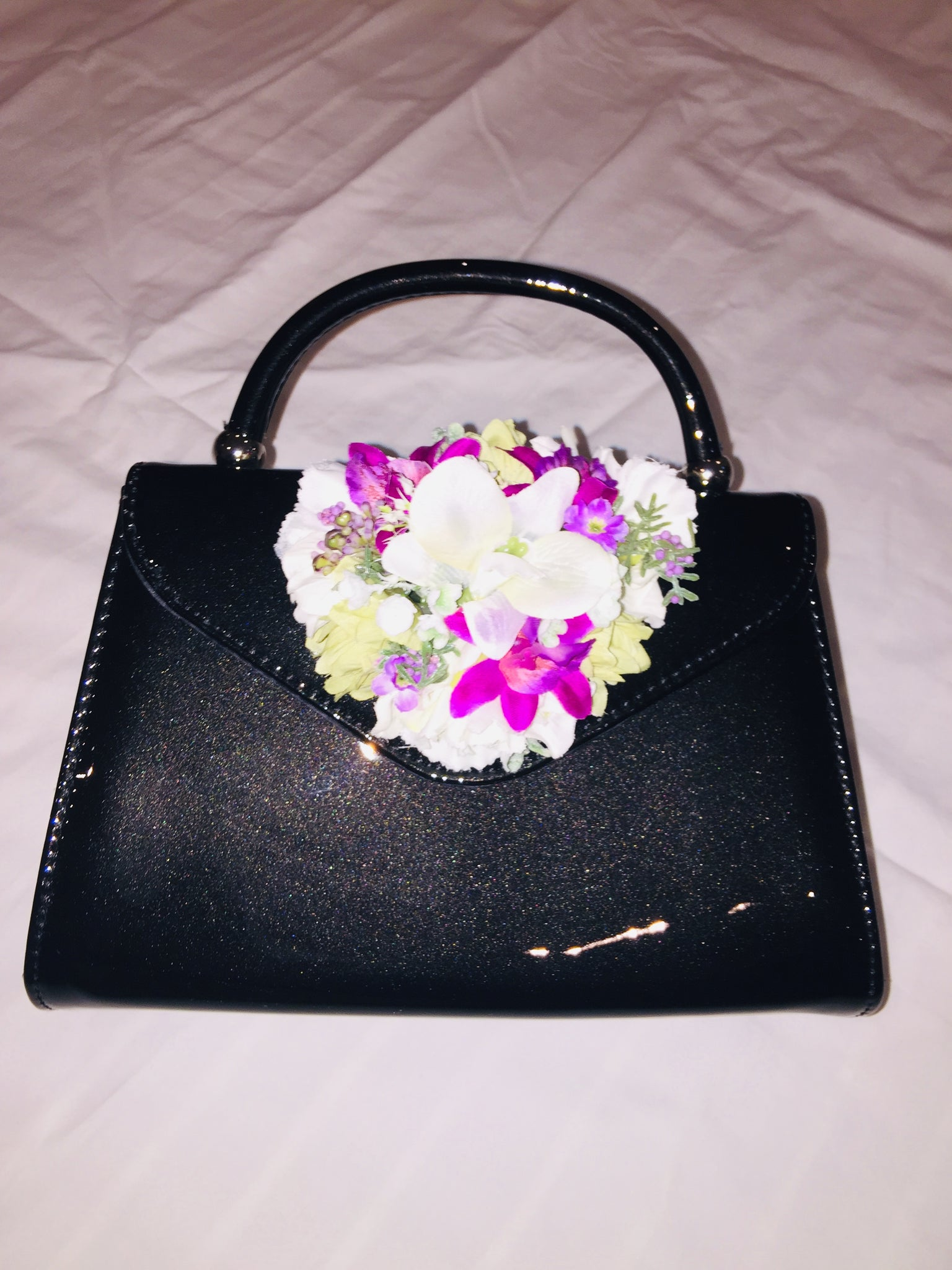 Vintage Inspired Betty Hand Bag In Black 1940s 1950s