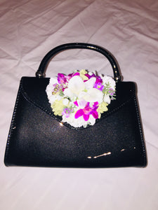 Classic Bags In Bloom Vintage Inspired Betty Hand Bag In Black - RocknRomance Clothing
