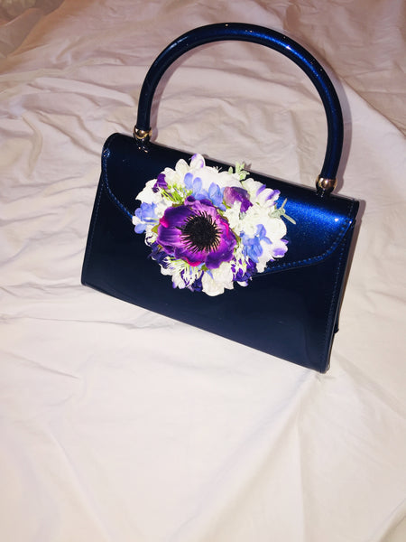 Vintage Inspired Betty Hand Bag In French Blue 1940s 1950s