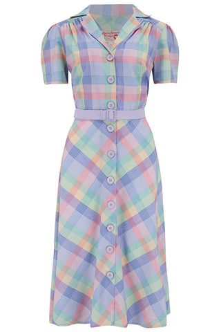 "Pre-Order.. The ""Charlene"" Shirtwaister Dress in Summer Check Print, True & Authentic 1950s Vintage Style - RocknRomance True 1940s & 1950s Vintage Style"