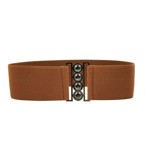 Retro Rockabilly Cinch Belt in Brown - RocknRomance True 1940s & 1950s Vintage Style