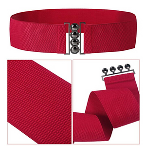 Rock n Romance Retro Rockbilly Cinch Belt in Red - RocknRomance Clothing