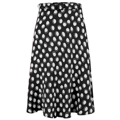 Circle Skirt in Black Moonshine Spot, Classic & Authentic Vintage 1940s Style