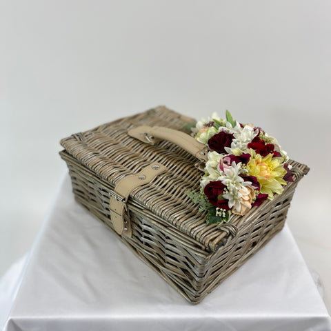 Classic Bags In Bloom Vintage Inspired Daisy Basket With Washed Wicker - RocknRomance Clothing