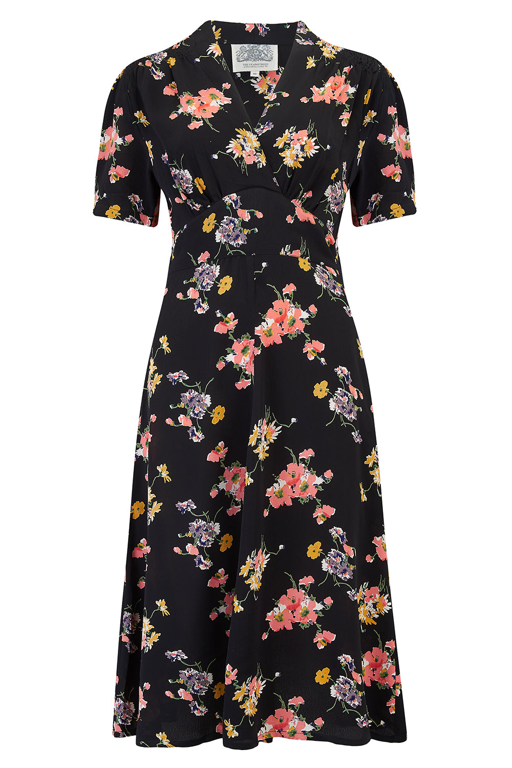 """Dolores"" Swing Dress in Mayflower, A Classic 1940s Inspired Vintage Style"