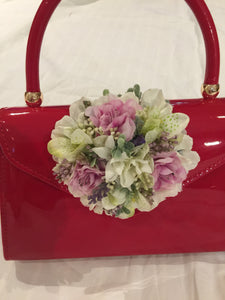 Vintage Inspired Betty Hand Bag In Red