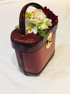 Classic Vintage Style Charlotte Handbag In Classic Wine 1940s 1950s