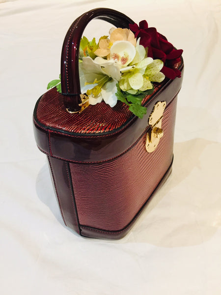 Classic Bags In Bloom Classic Vintage Style Charlotte Handbag In Classic Wine - RocknRomance Clothing