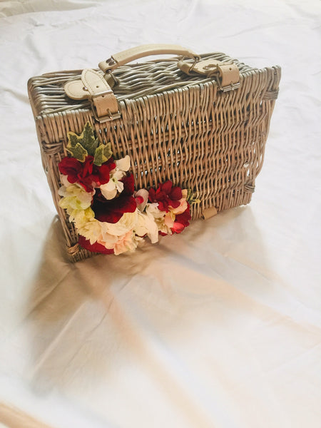 Vintage Inspired Dolly Basket 1940s picnic basket 1950s