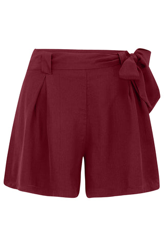 Emma vintage styled Tap Shorts in Wine - RocknRomance True 1940s & 1950s Vintage Style