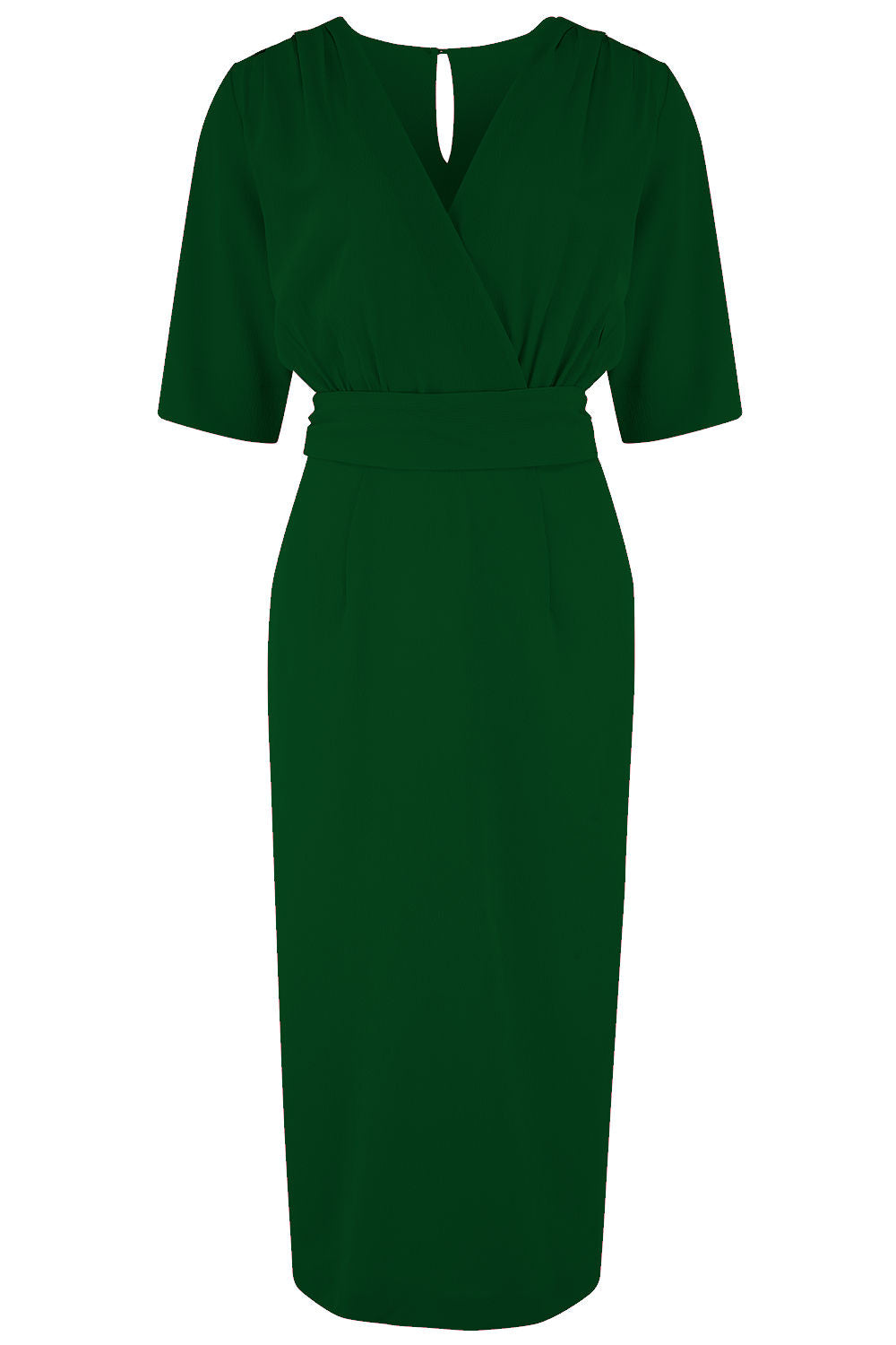 1950s Dresses, 50s Dresses | 1950s Style Dresses Pre-Order The Evelyn Wiggle Dress in Green True Late 40s Early 50s Vintage Style £49.00 AT vintagedancer.com