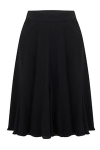 Flare Skirt in Black, Authentic & Classic 1940's Vintage Inspired Style