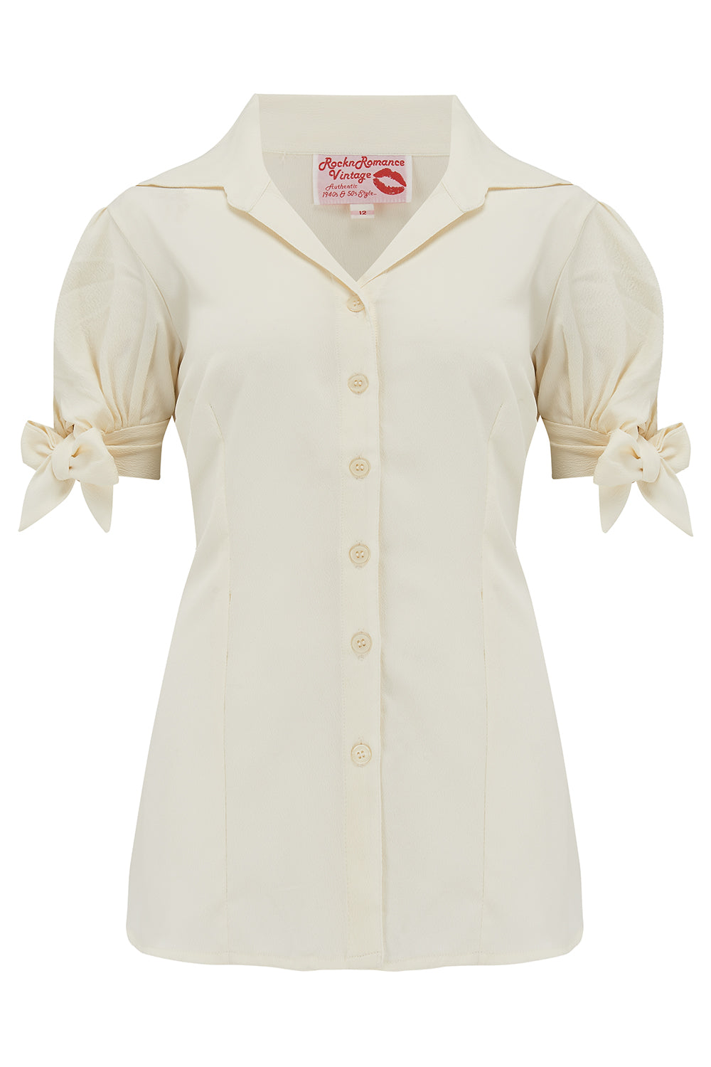 50s Shirts & Tops The Jane Blouse in Solid Antique White True  Authentic 1950s Vintage Style £29.00 AT vintagedancer.com