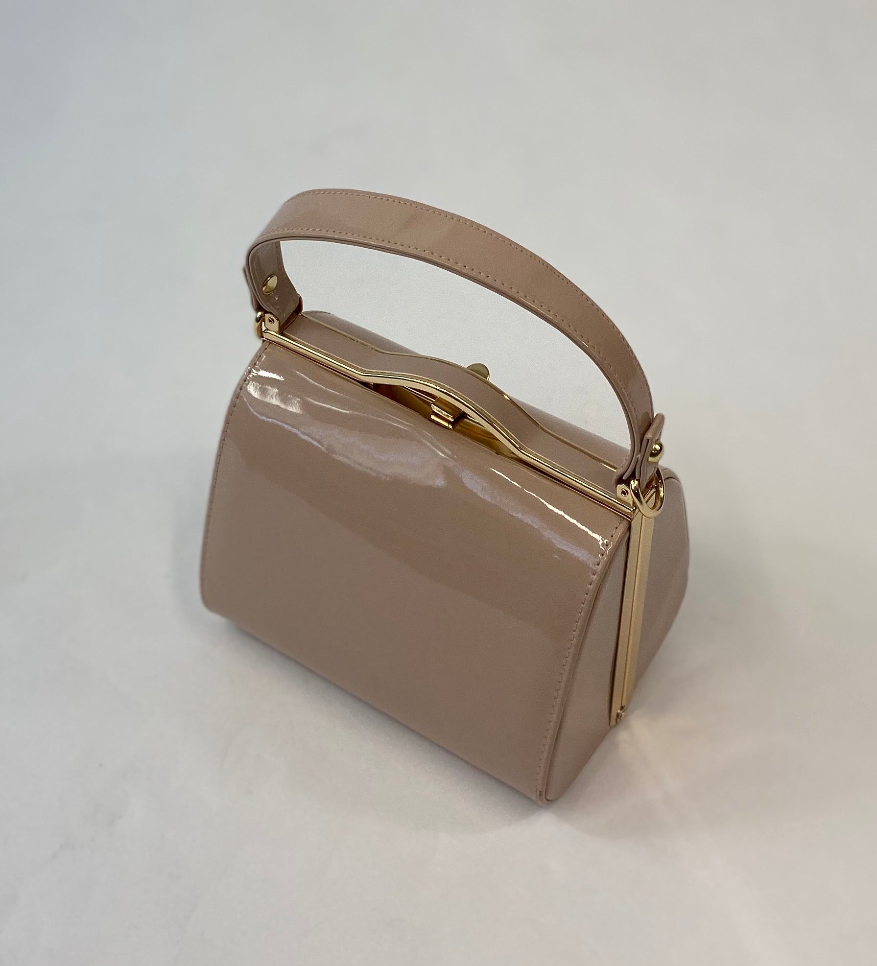 Vintage Inspired Kelly Hand Bag In classic Nude - RocknRomance True 1940s & 1950s Vintage Style