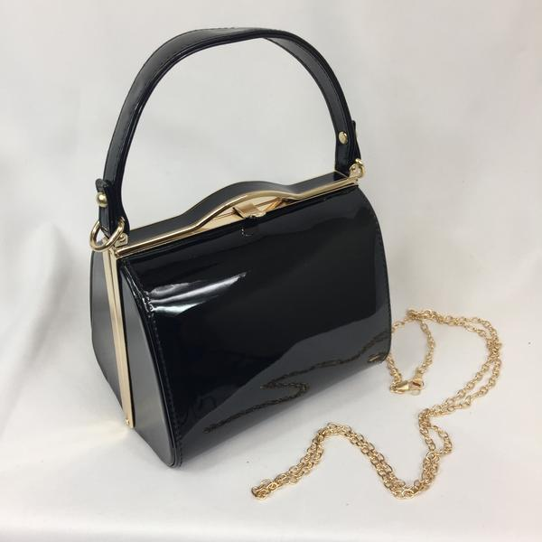 Classic Bags In Bloom Vintage Inspired Kelly Hand Bag In classic Black - RocknRomance Clothing