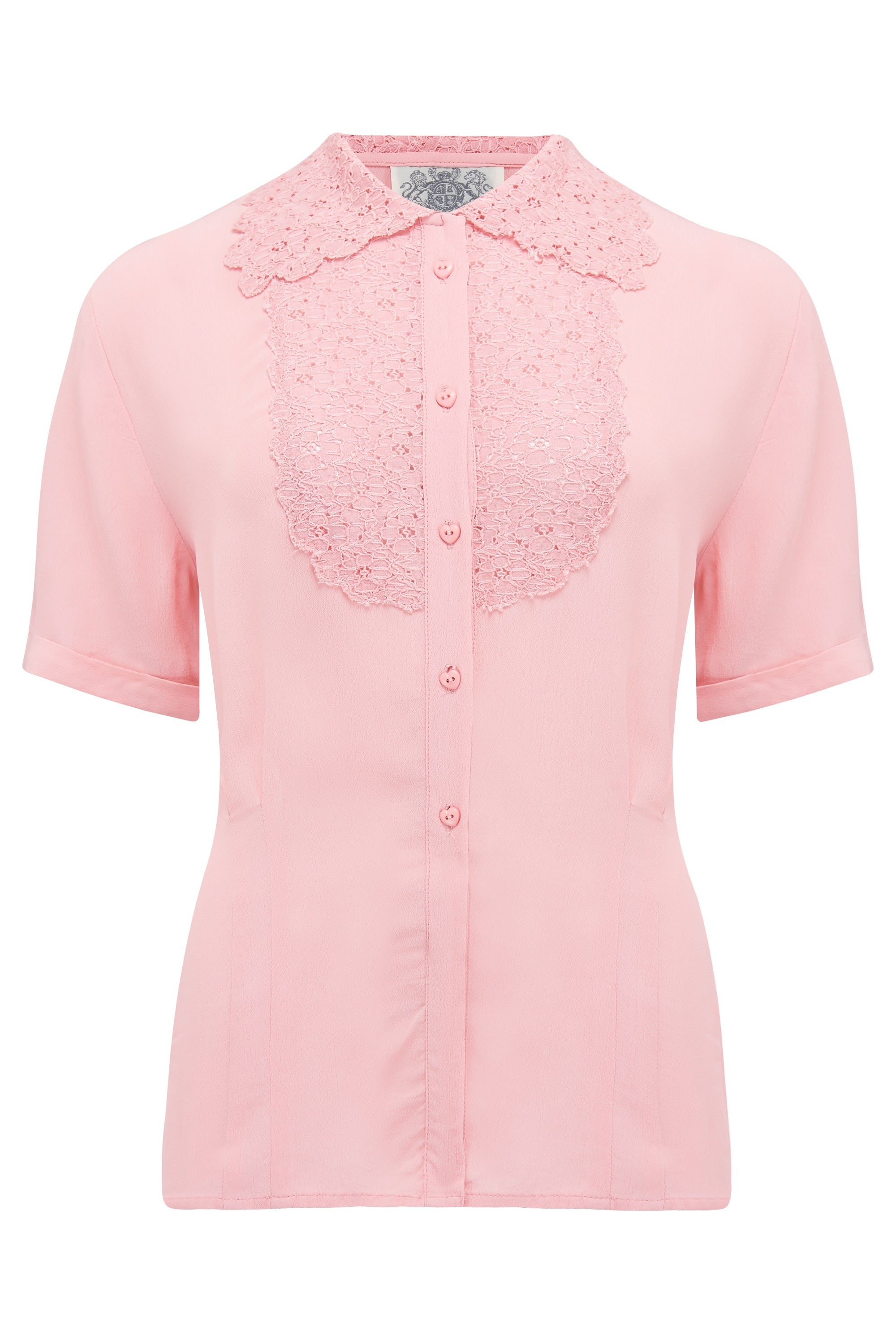 1940s Blouses, Tops, Shirts, Knitwear Lacey Blouse in Blossom Pink  Authentic  Classic 1940s True Vintage Style £39.00 AT vintagedancer.com