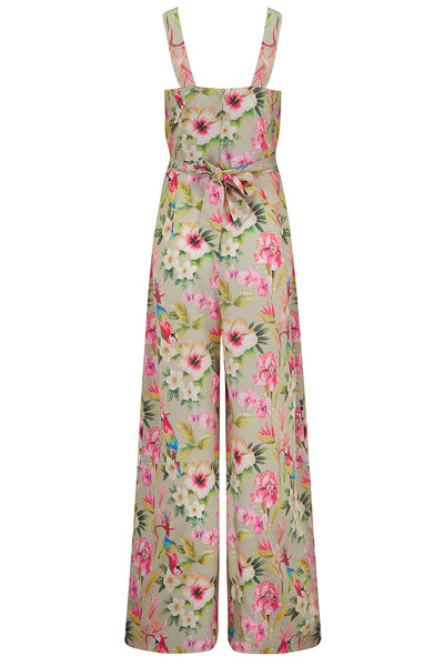 "The ""Lana"" Jump Suit in Paradise Print, Fun & Authentic True 1950s Vintage Style - RocknRomance True 1940s & 1950s Vintage Style"