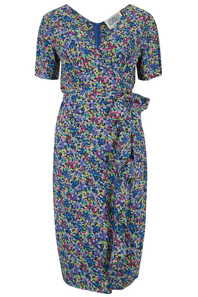 """Lilian"" Dress in Pansy Print by The Seamstress of Bloomsbury, Classic & Authentic 1940s Vintage Style"